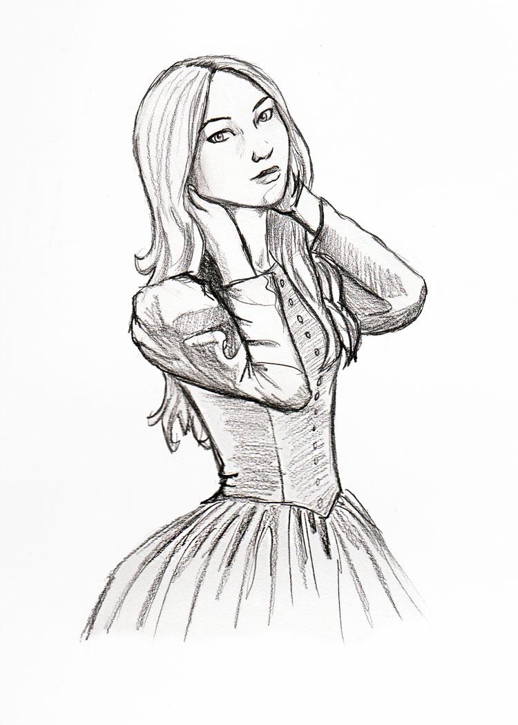 750x1050 Victorian Girl By Ladamania