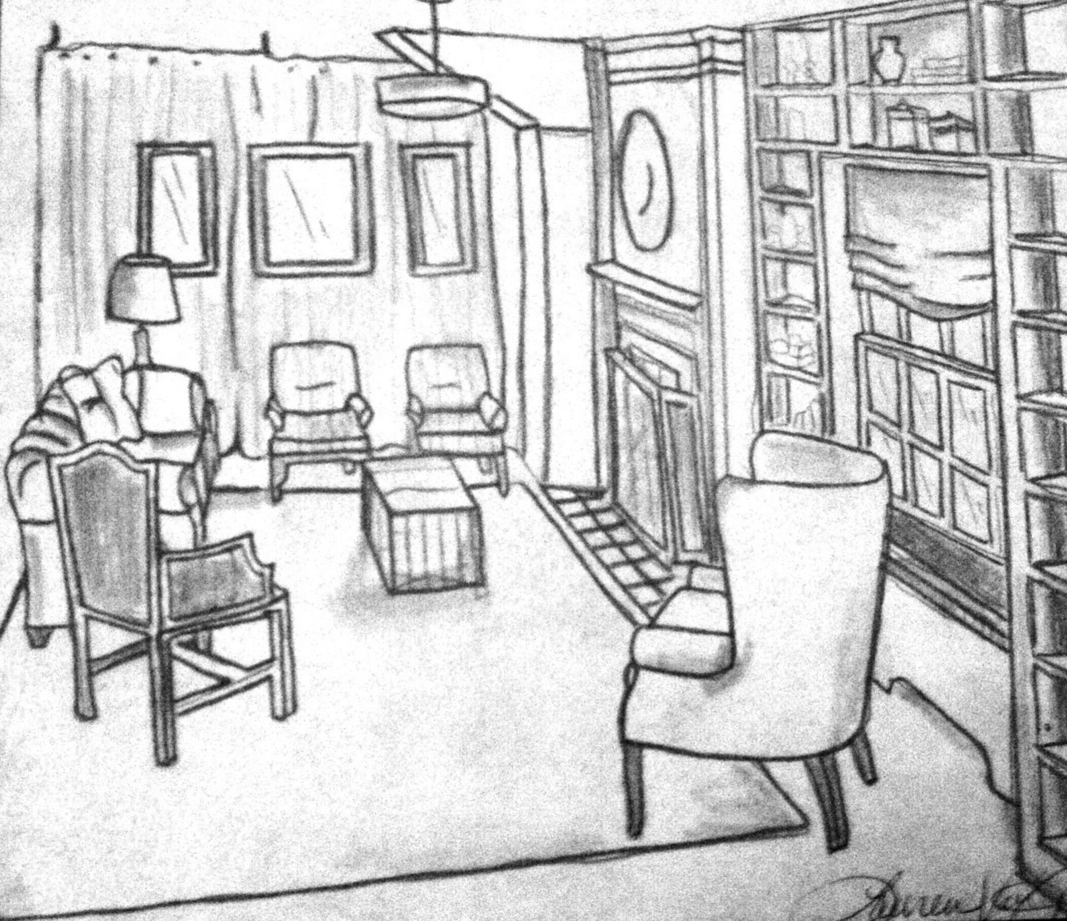 2096x1810 Brilliant Living Room Drawing Sketch 2096 X 1810 837 Kb Jpeg