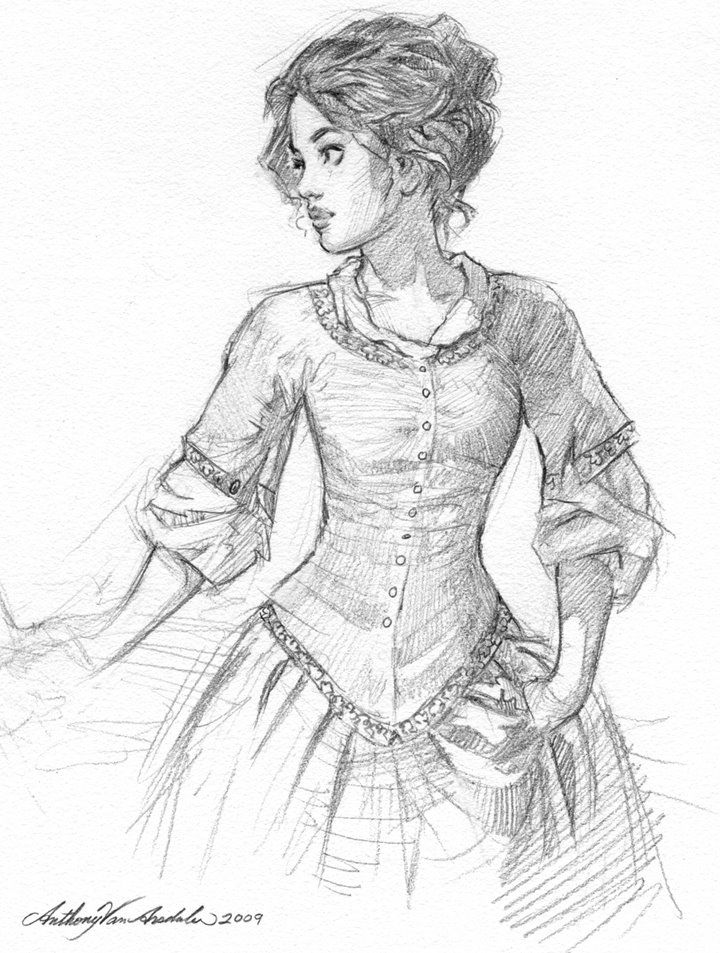 720x953 Drawing Art, Drawing Inspiration, Victorian Dress Drawing, Drawing