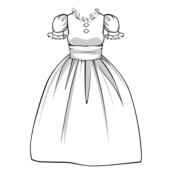 600x600 How To Draw Complex Folds And Ruffles In Fabric And Clothing