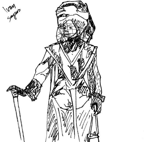594x588 James Mathurin Art Victorian Dress Sketch