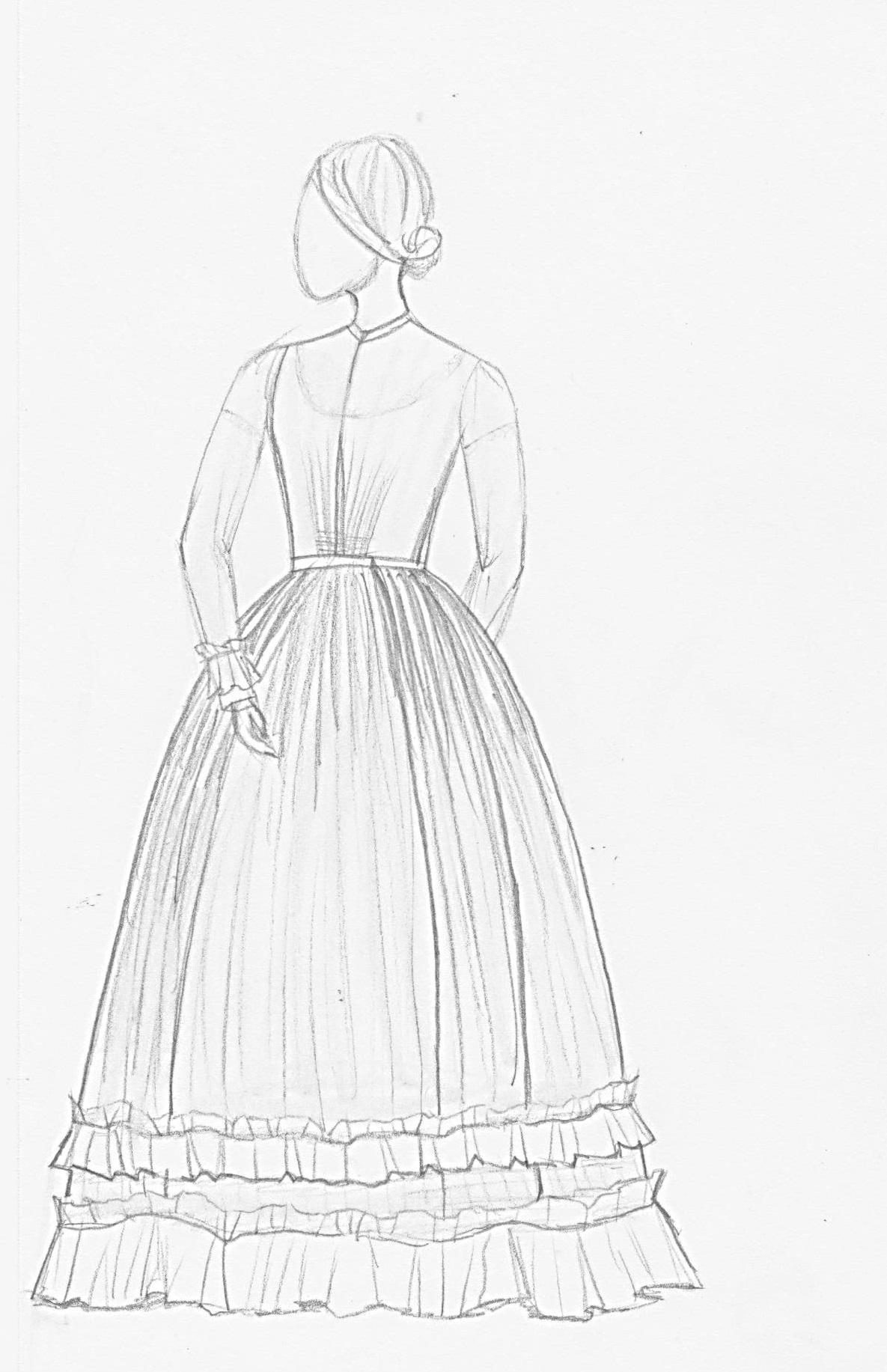 1185x1833 Study Of A Summer Day Dress Ca.1860 Ryerson Fashion Research