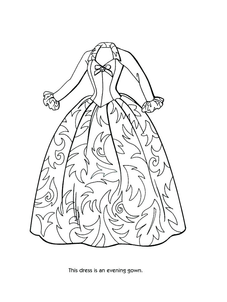 728x971 Victorian Coloring Pages Coloring Pages Of Dress Barbie Fashion