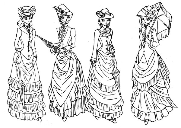 600x424 Victorian Dress Drawings Deviant Victorian Outing