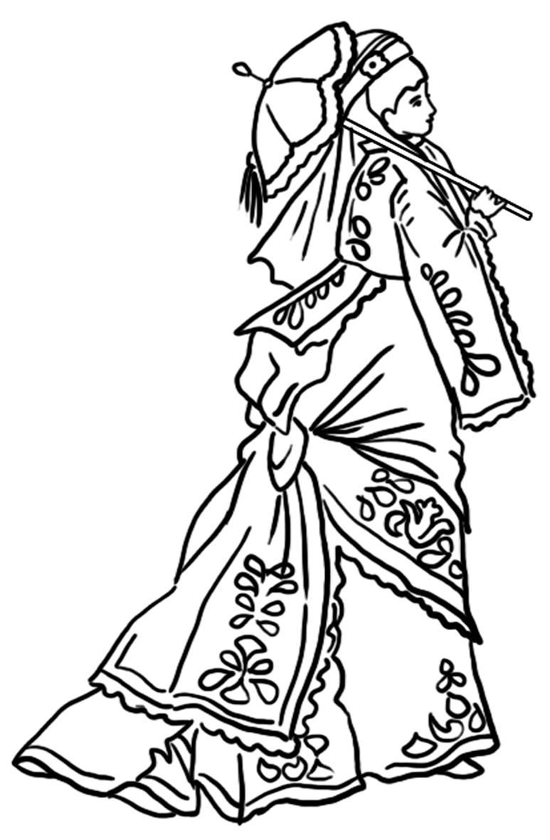 773x1181 Victorian Printable Coloring Pictures