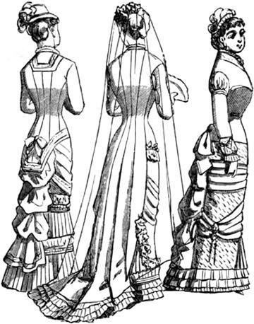 360x458 Victorian Wedding Dress, 1881