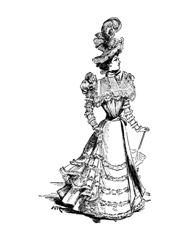 bcaa9f05d75 630x815 Vintage Women Coloring Book. 630x815 Vintage Women Coloring Book.  280x420 Wedding Dress ...
