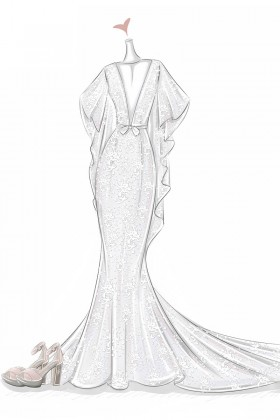 280x420 Wedding Dress Sketches, Prom Dress Sketches, Free Sketching