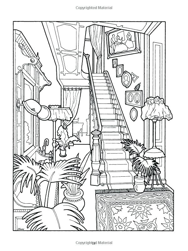 600x800 Victorian Coloring Pages