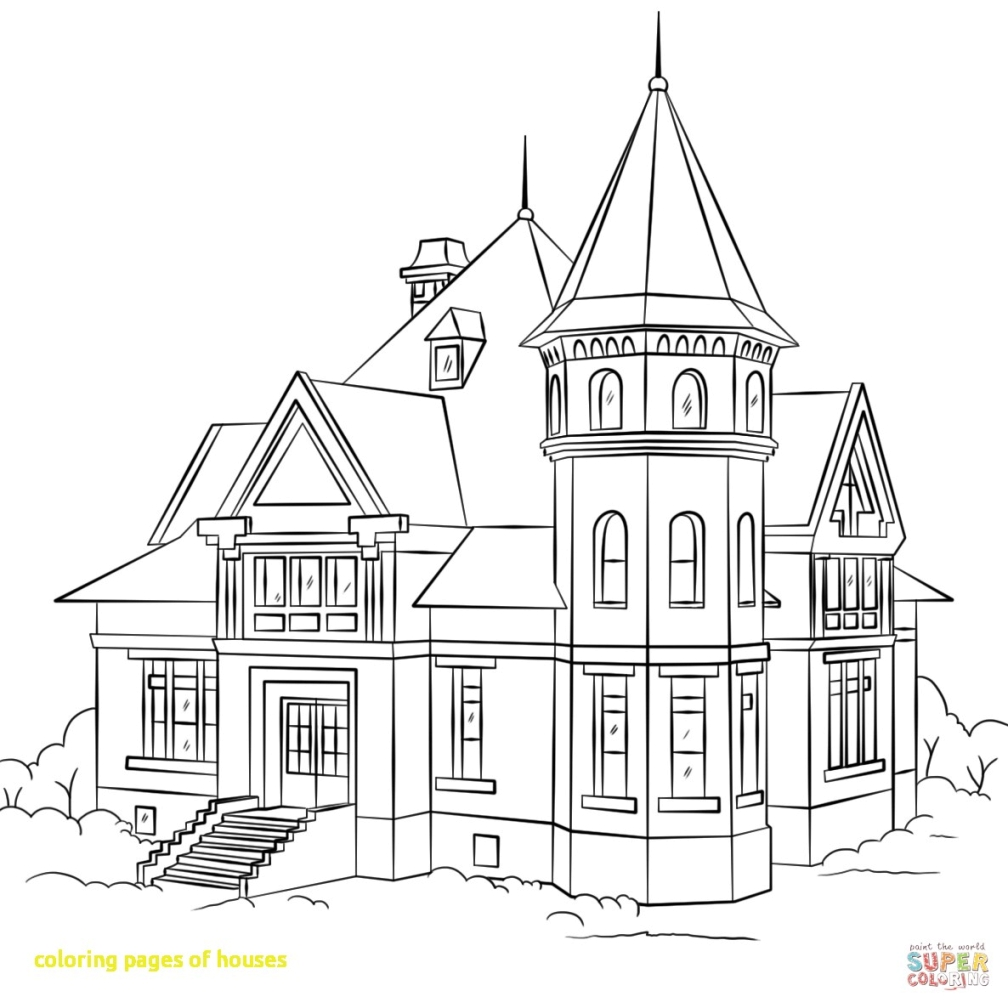 1008x1008 Coloring Page House Fotonakal Co