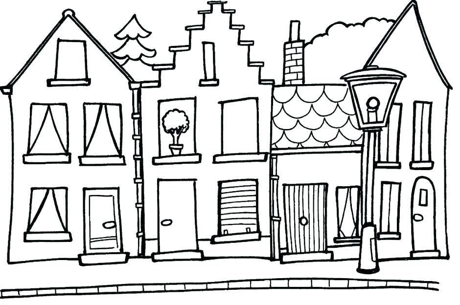 940x624 Coloring Pages Of Houses Pin Haunted House Color 5 Free Coloring
