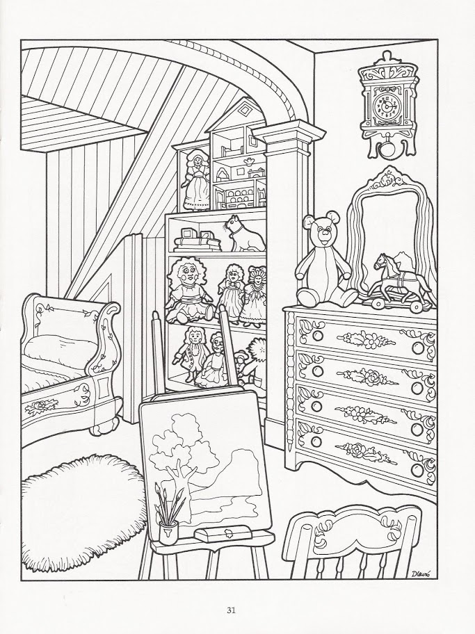 Victorian House Line Drawing