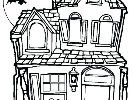 440x330 Coloring Pages Of Houses White House Coloring Pages House Picture