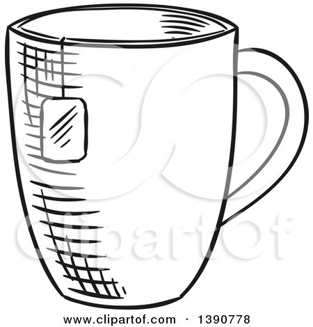 Victorian Teacup Drawing at GetDrawings.com | Free for personal use ...