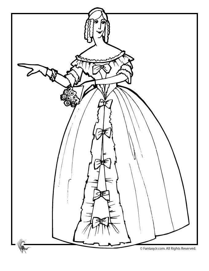 Victorian Woman Drawing at GetDrawings