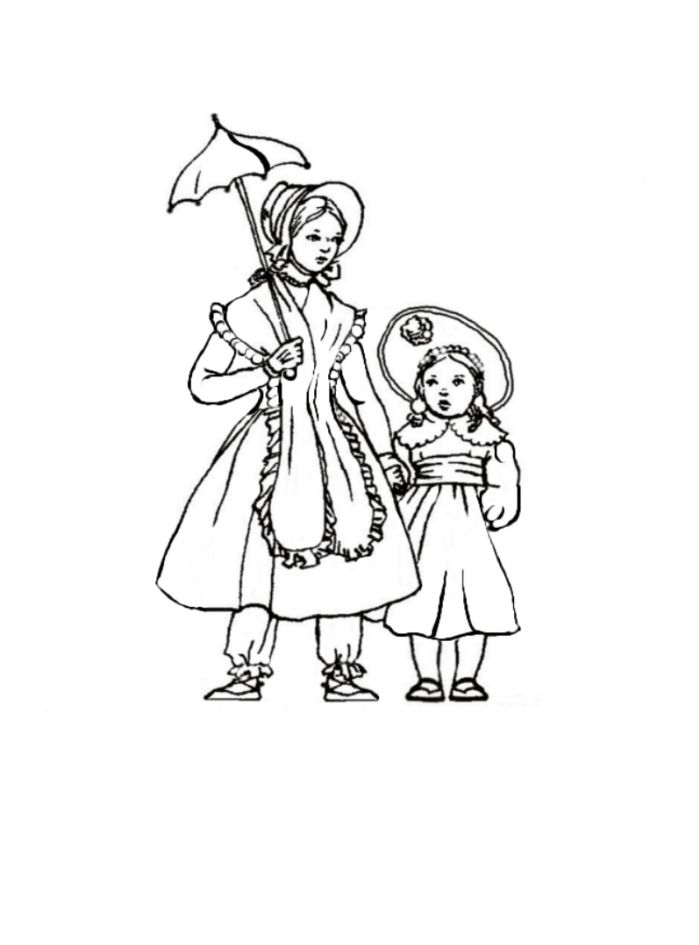 699x945 Victorian Woman Coloring Pages Download And Print For Free
