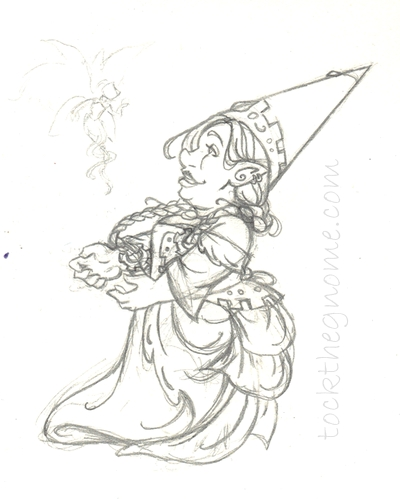 400x499 Sketch Gnome Woman Victorian Steampunk Faerie Webcomic Tock