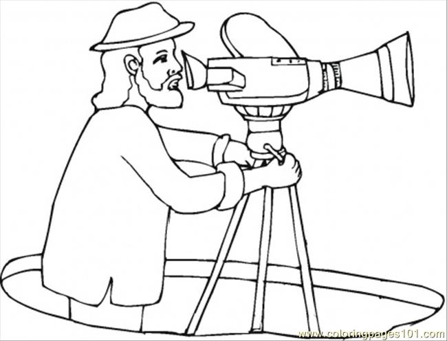 650x496 Director With Video Camera Coloring Page