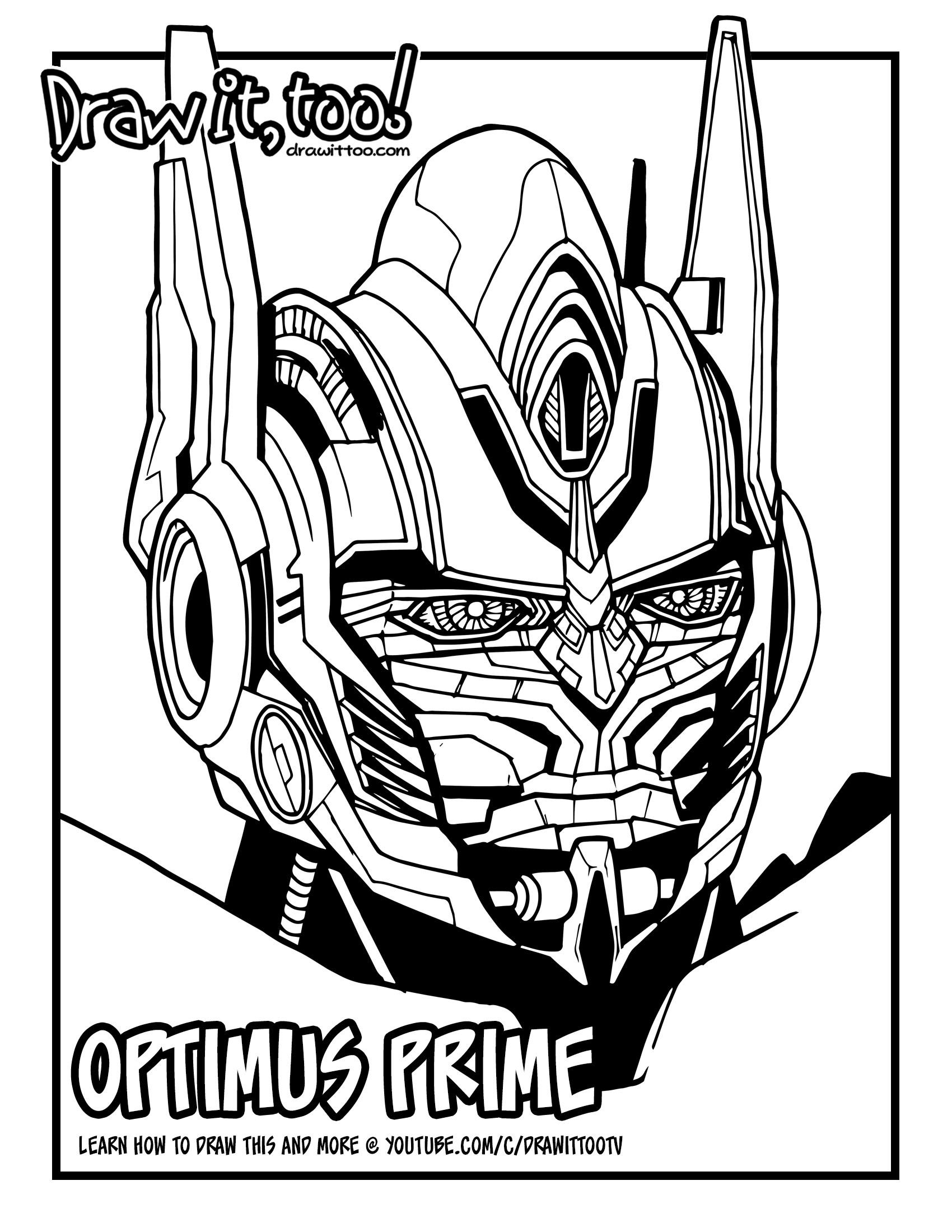 1700x2200 How To Draw Optimus Prime (Transformers Movie Franchise