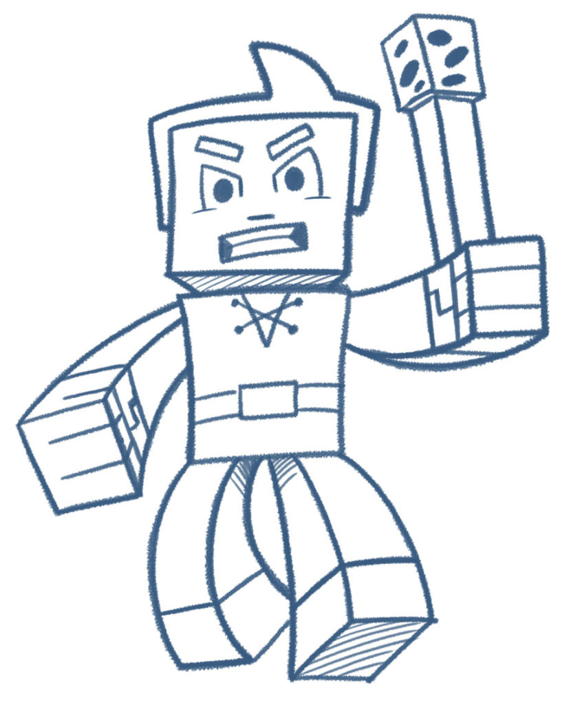 824x1024 Learn How To Draw Your Own Minecraft Style Characters!