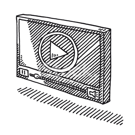 440x440 Video Player Symbol Drawing Stock Vector