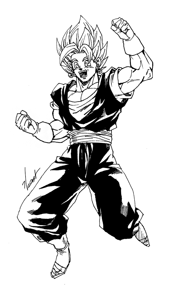 600x1020 Video Attached] Vegetto Drawing By Goddessmechanic2