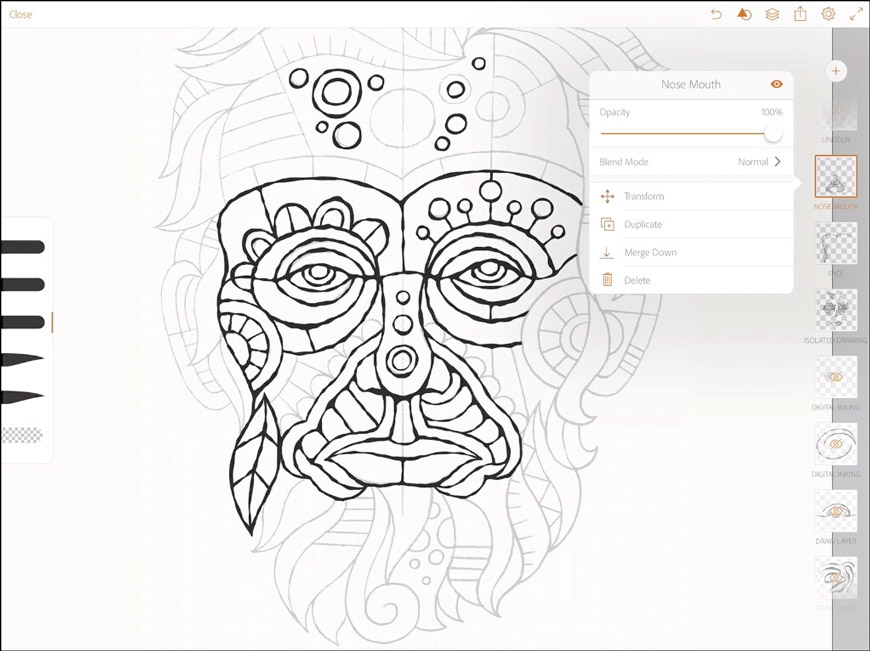 870x651 Drawing Abe, From Paper Sketch To Digital Artwork Create