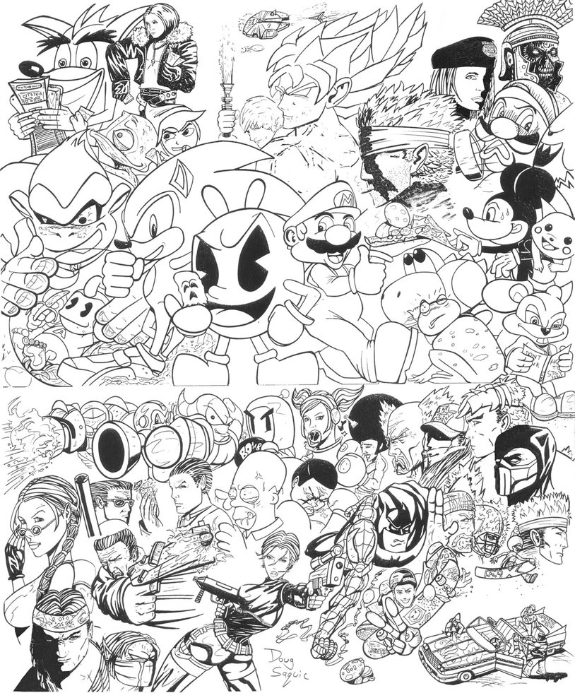 814x981 Drawing Video Game Characters The Daniel Lowe Experience Video