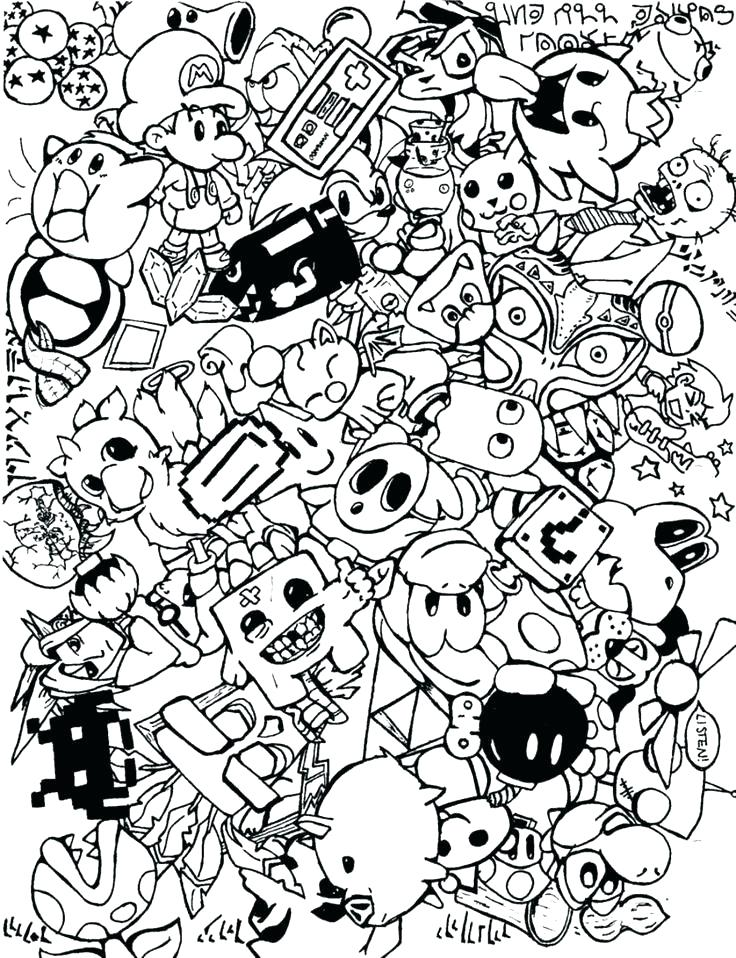 736x958 Video Game Coloring Pages Printable Coloring Pages Bros Video