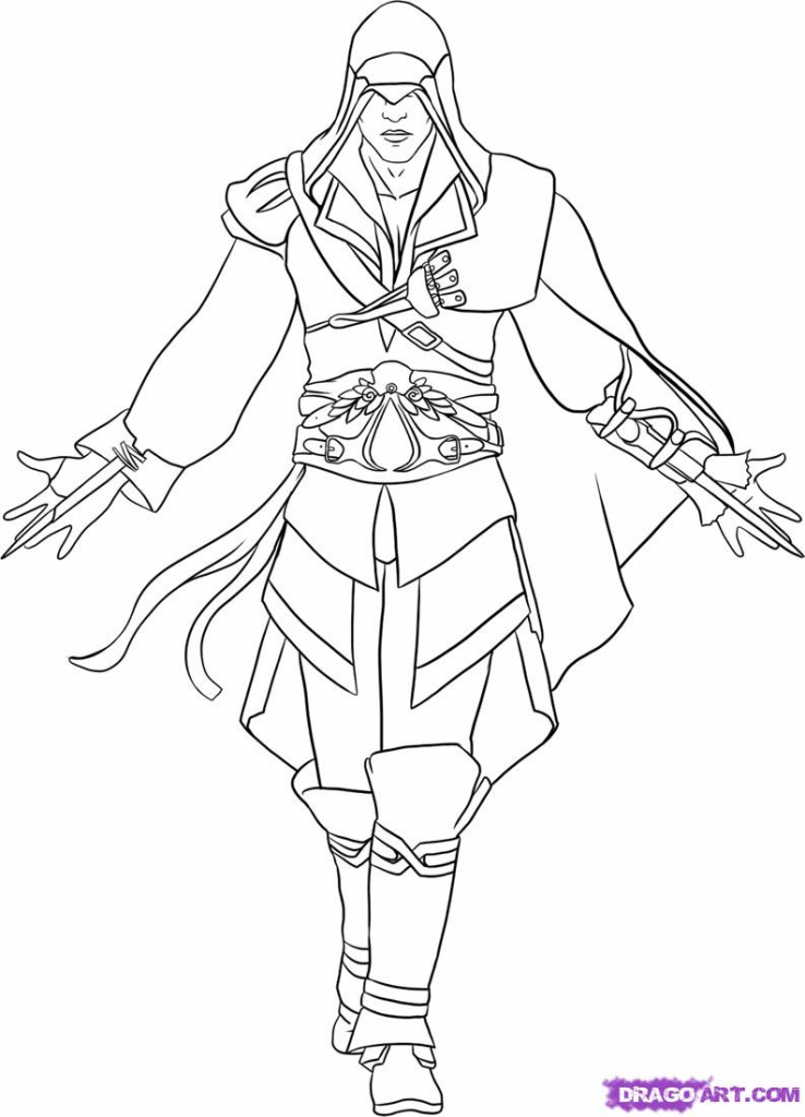 738x1024 How To Draw A Assassin