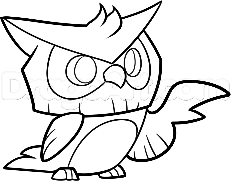 946x740 How To Draw An Animal Jam Owl, Step By Step, Video Game Characters