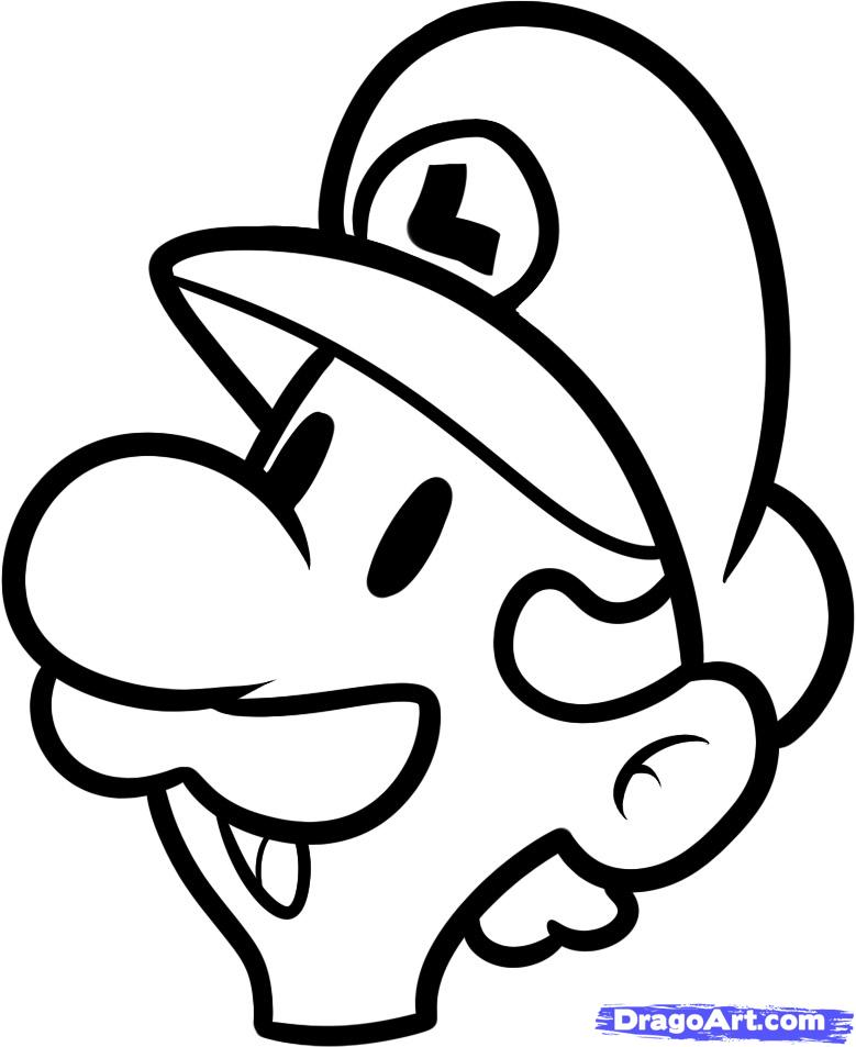 779x953 How To Draw Luigi Easy, Step By Step, Video Game Characters, Pop