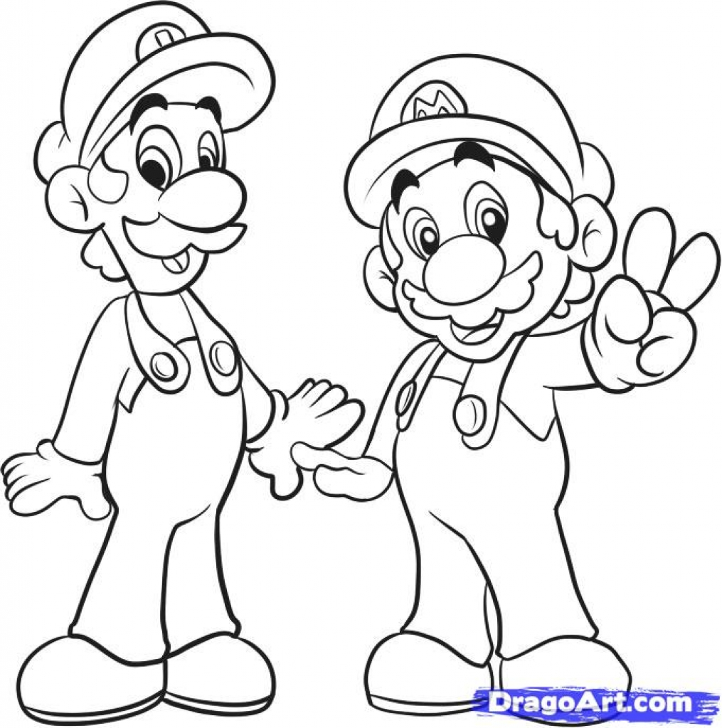 1015x1024 How To Draw Mario Bros, Stepstep, Video Game Characters, Pop
