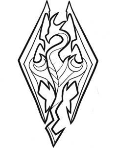 241x302 How To Draw Skyrim, Skyrim Logo, Step By Step, Video Game