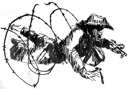 Vietnam Soldier Drawing