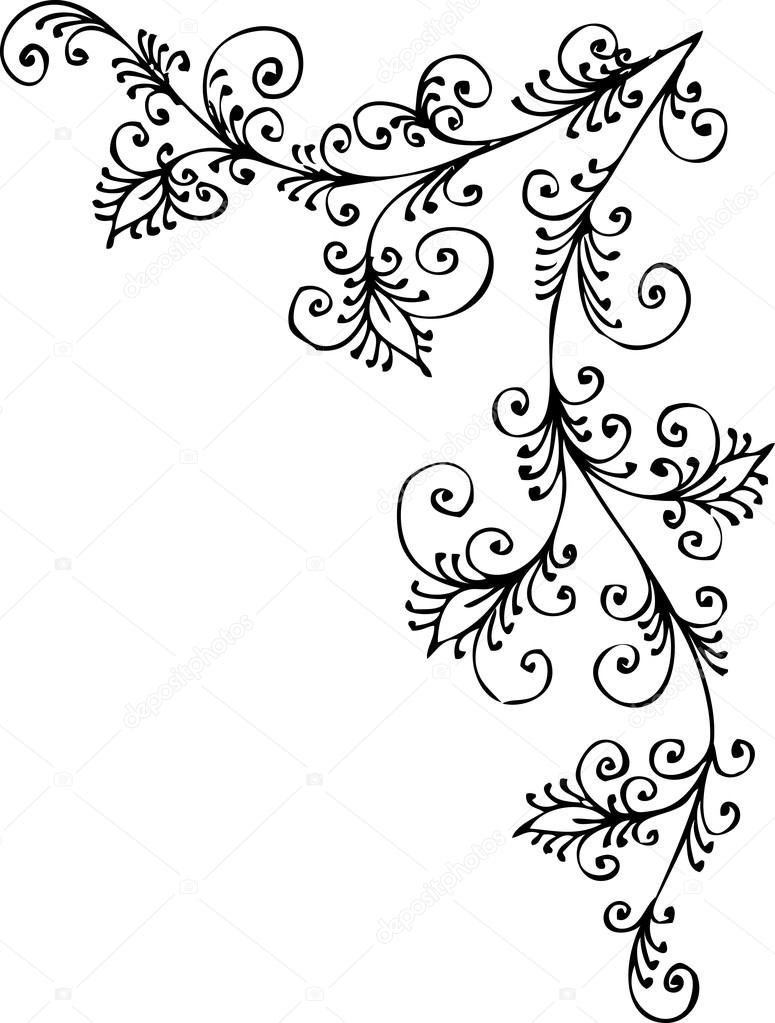 775x1023 Baroque Pattern Vignette Stock Vector Photon
