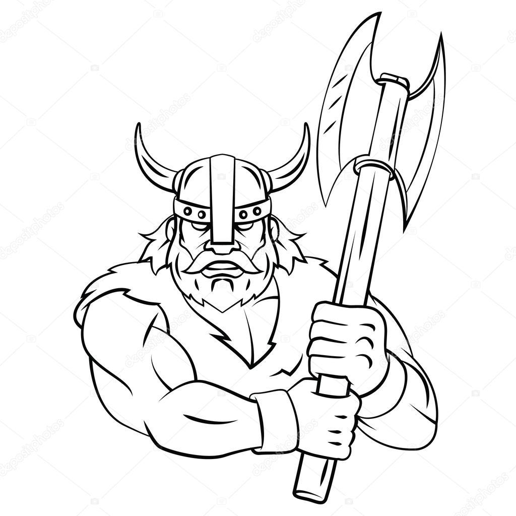 1024x1024 Viking Axe Stock Vector Funwayillustration