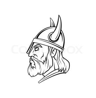 Viking Face Drawing