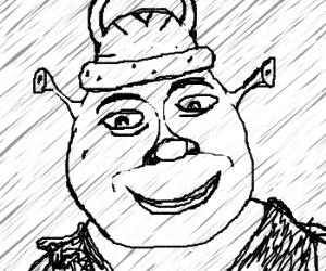 300x250 Shrek Wears Viking Hat
