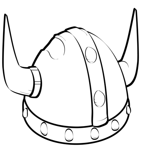 461x480 Viking Helmet Coloring Page Free Printable Coloring Pages