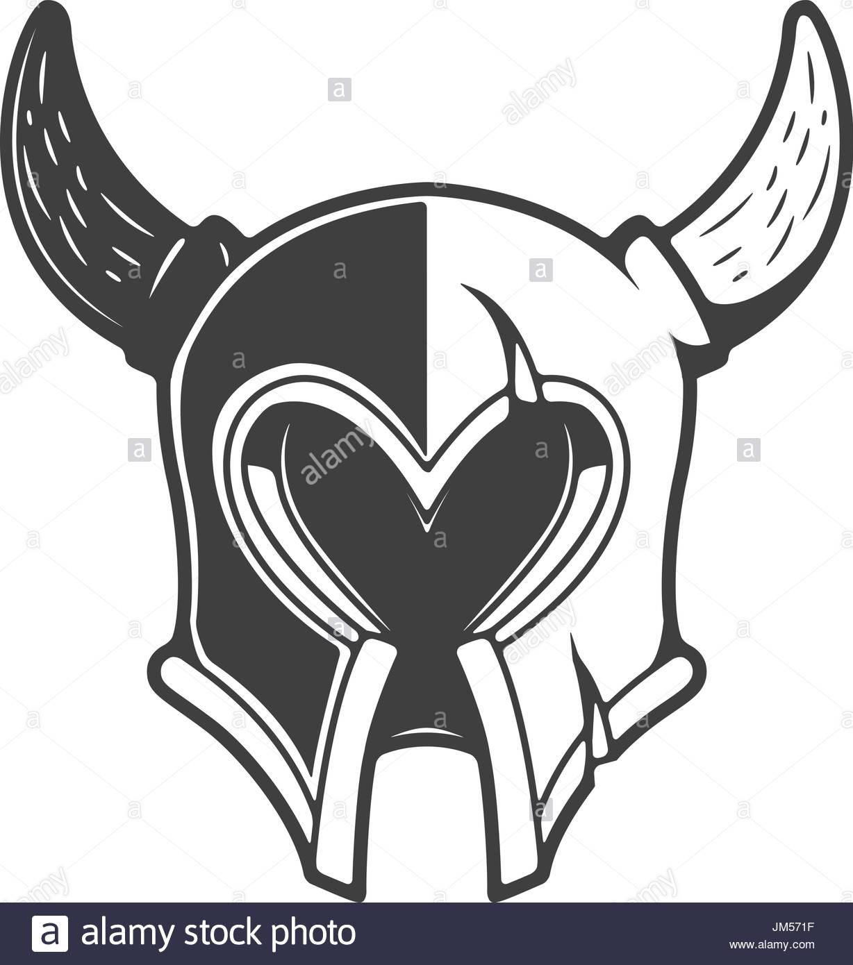 1228x1390 Viking Helmet Isolated On White Background. Design Element