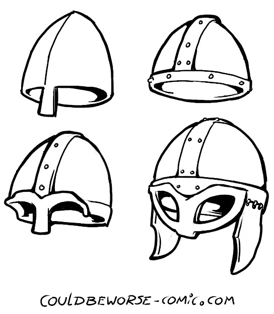 544x622 Viking Helmets Drawing Historicalfantasy Weapons And Armor