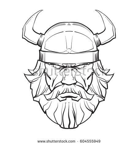 450x470 Drawn Viking Viking Head