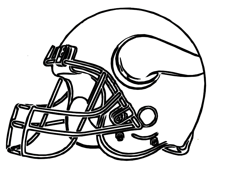 773x612 Football Helmet Vikings Minnesota Coloring Pages Kinder Social