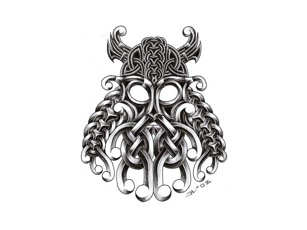 1024x768 Outline Viking Head In Helmet Tattoo On Palm In 2017 Real Photo