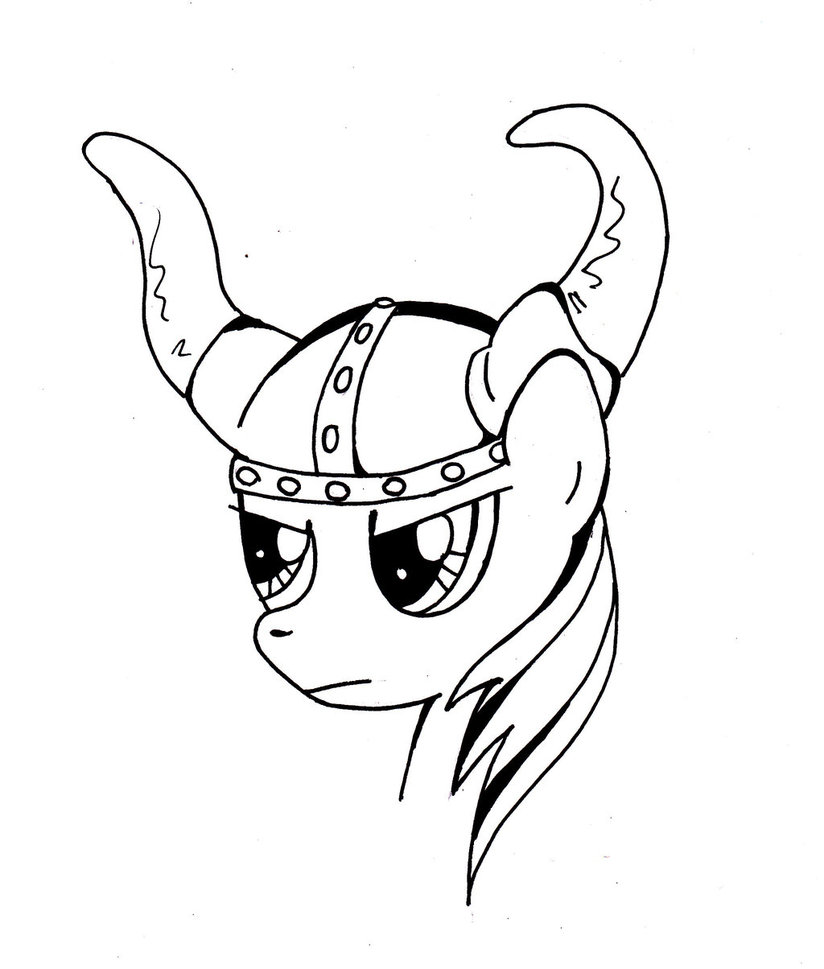 824x969 Rainbow Dash In A Viking Helmet! 42113 By Mermaidsoupbuttons