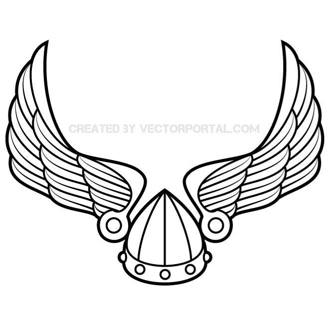 660x660 Wings With Viking Helmet Vector.eps Free Vectors Ui Download