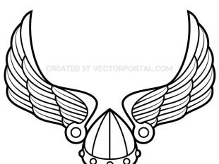 310x233 Winged Viking Helmet Vector Art Free Vectors Ui Download