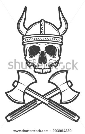 300x470 Collection Of Black Horned Helmet Tattoo