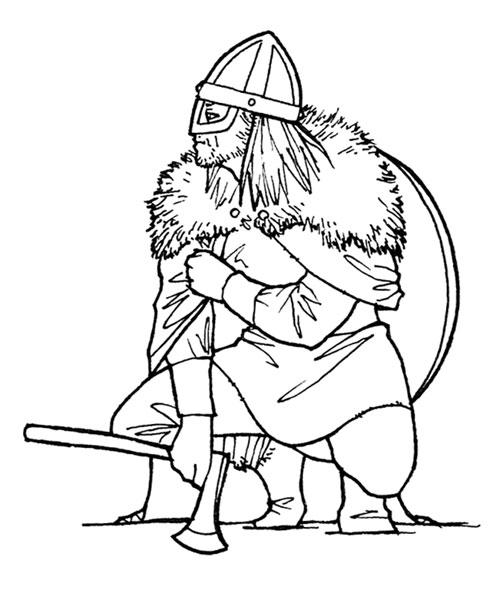 Viking Line Drawing
